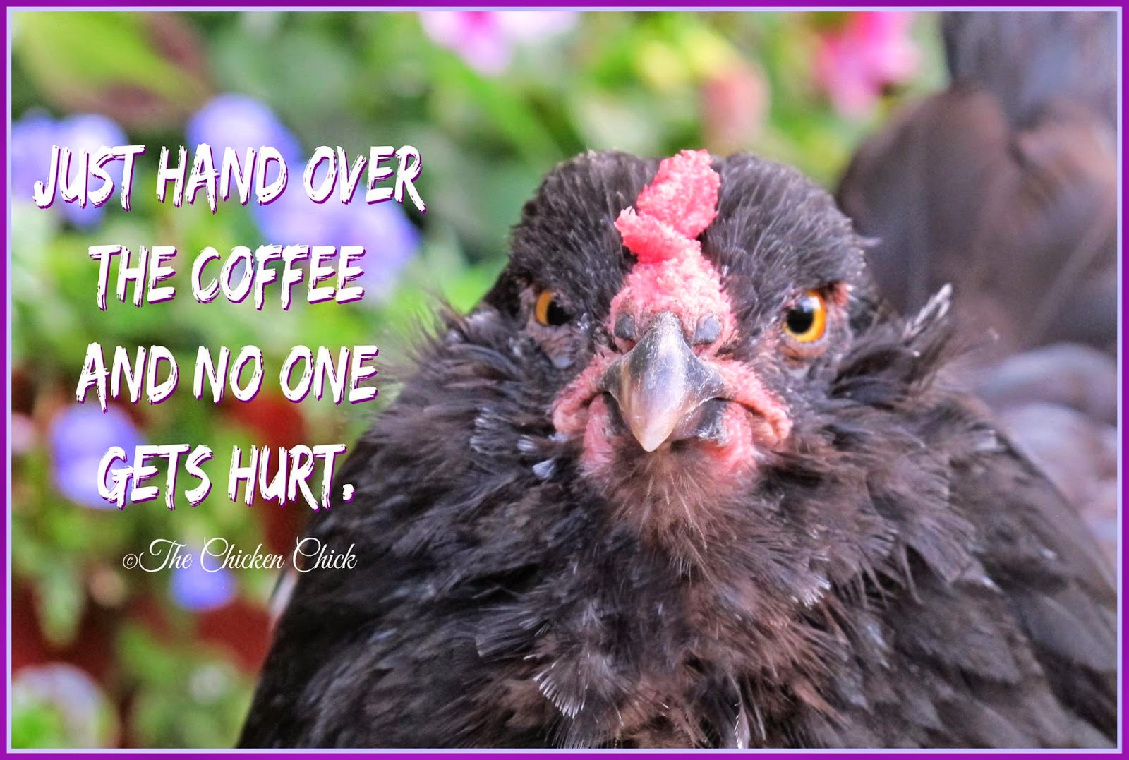 Just hand over the coffee and no one gets hurt