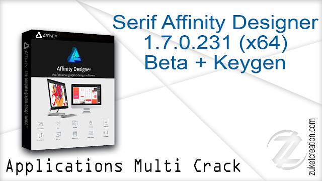 Serif Affinity Designer 1.7.0.231 (x64) Beta + Keygen