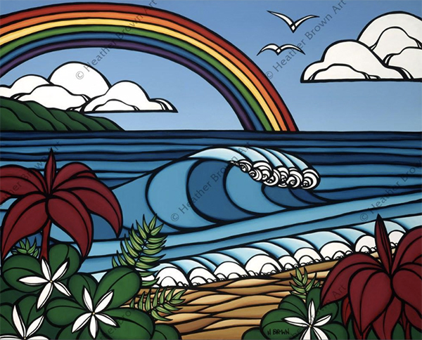 tropical surf art heather brown