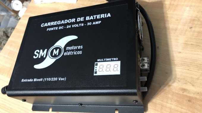Carregador  de bateria 🔋 fonte DC