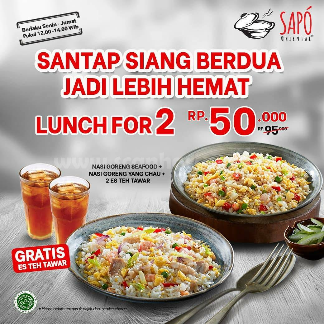 SAPO ORIENTAL Special Promo Lunch For 2 only IDR 50.000