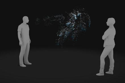 Distanza droplets e aerosol Covid-19 in 3D