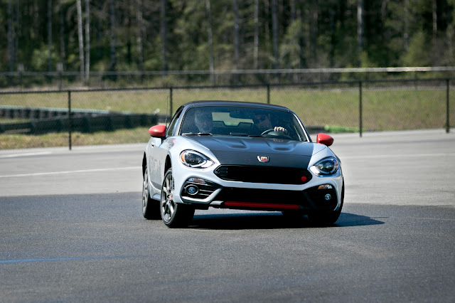 Fiat 124 Spider on skidpad