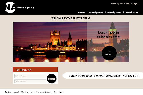 Travel Agency - Website Layouts Project