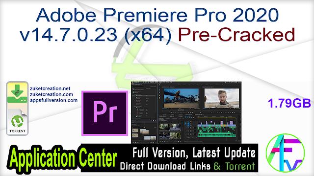 Adobe Premiere Pro 2020 v14.7.0.23 (x64) Pre-Cracked