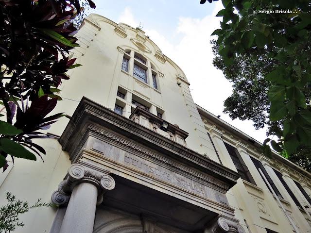 Perspectiva inferior da fachada da Escola Estadual Caetano de Campos - Consolação - São Paulo