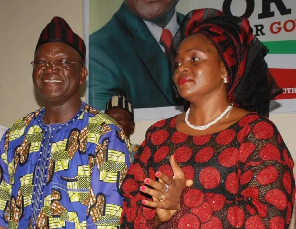 Gov Ortom's wife, son test positive for COVID-19 #Arewapublisize