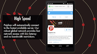psiphon vpn high speed features