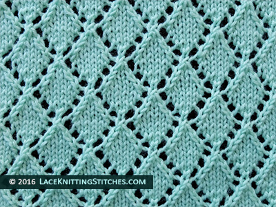 Openwork Diamonds Lace Knit Stitch