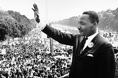 """August 28, 1963, the largest Civil Rights demonstration ever seen took place in Washington D.C., Dr. King delivered his """"I have a Dream"""" speech to more than 200,000 people on the National Mall."""