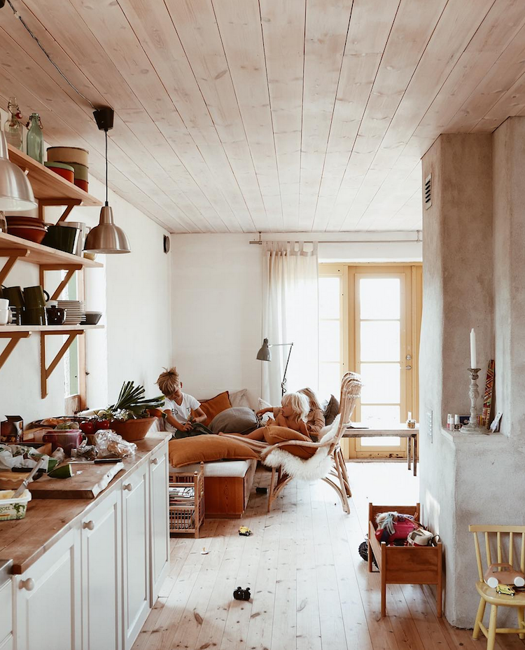 Chestnut Tones In A Delightful Swedish Family Home