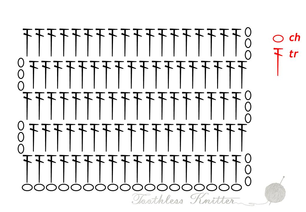 Offset Treble Pattern / Słupek Zwykły Przesunięty Wzór