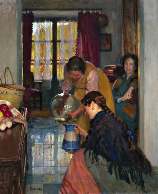 Reflejos, Laureano Barrau Buñol, Pintor Catalán, Pintor español, Cuadros de Laureano Barrau Buñol, Barrau Buñol, Laureano Barrau