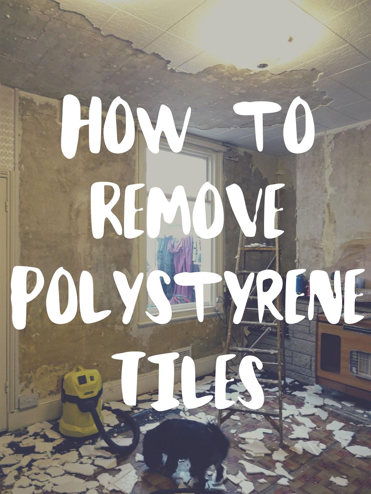 removing polystyrene ceiling tiles