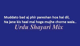 Urdu bewafa shayari|Bewfa poetry|Muddato bad aj