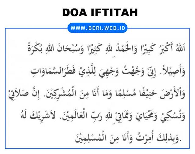Doa Iftitah Bahasa Arab dan Terjemahannya Lengkap