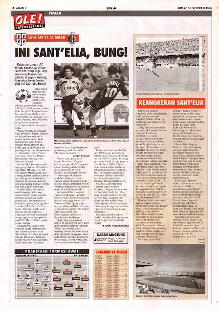 LEGA CALCIO 1998 CAGLIARI VS AC MILAN THIS IS SANT'ELIA