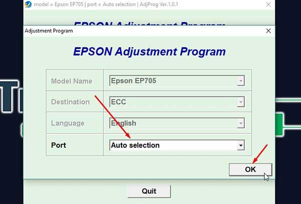 Resetter impresora Epson EP-702A