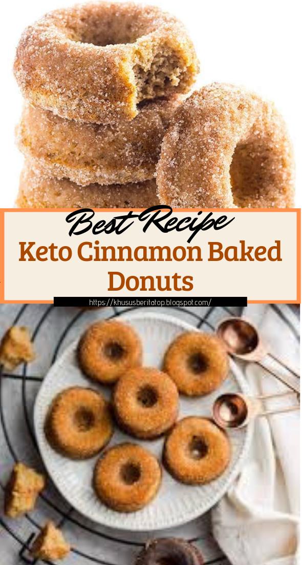 Keto Cinnamon Baked Donuts #healthyfood #dietketo #breakfast #food