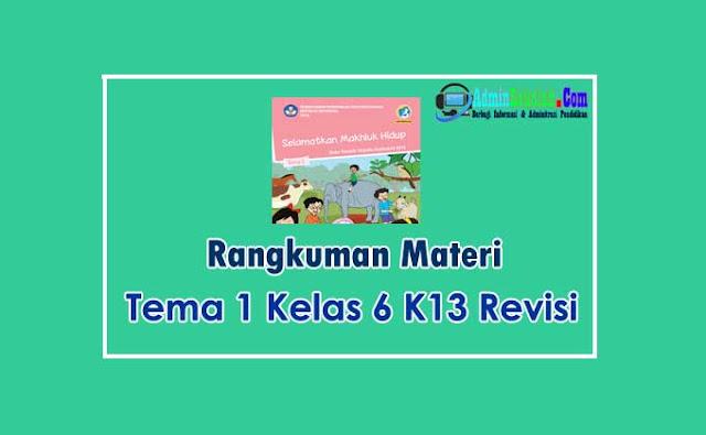 Rangkuman Materi Tema 1 Kelas 6 Kurikulum 2013 Lengkap