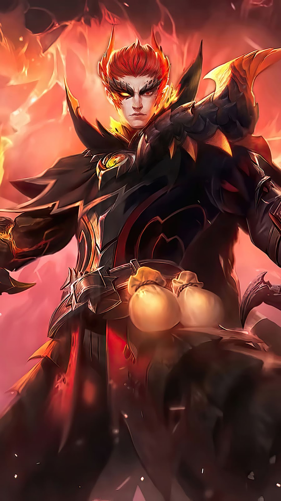 Wallpaper Valir Draconic Flame Skin Mobile Legends HD for Android and iOS