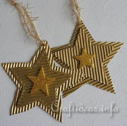estrellas de navidad adornos para poner en los regalos de de cartón corrugado