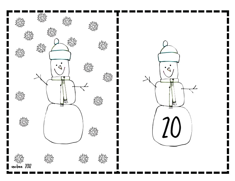 Buggy for First Grade : Snowflake Counting Math Center Freebie