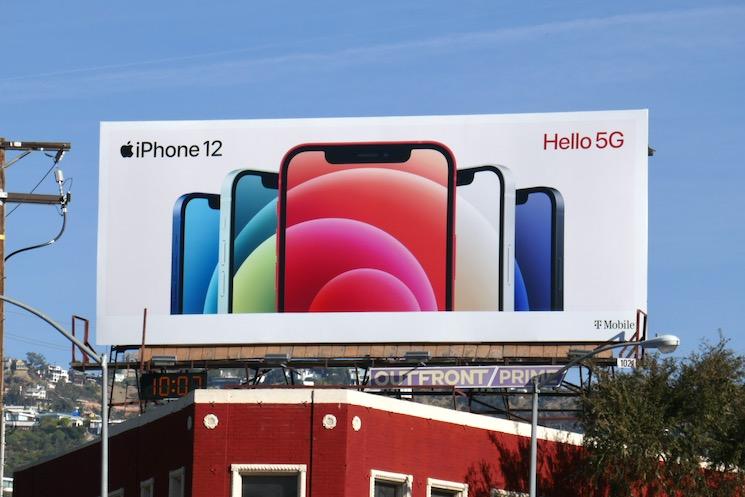 Apple iPhone 12 Hello 5G billboard