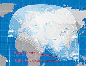 peta beam atau jangkauan sinyal satelit yamal 202
