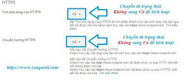 Hướng dẫn thiết lập cơ bản https trong blogspot