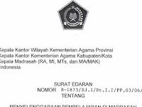 SE Pembelajaran Madrasah Tahun 2021/2022 Masa Pandemi