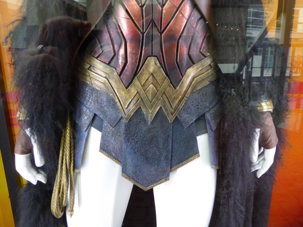 Wonder Woman costume logo detail