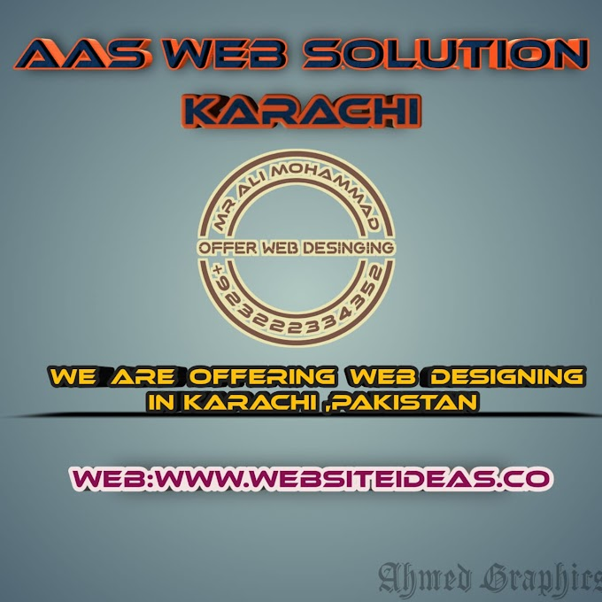 AAS Web Solution offering Website Designing in Jamshed Town, Firozabad, Karachi