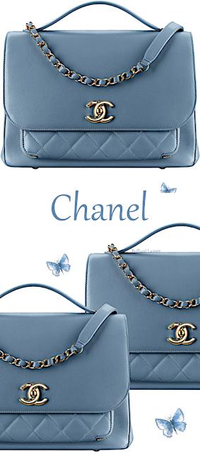 Blue Chanel top-handle flap bag #brilliantluxury