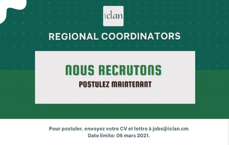 Recrutement des coordinateurs régionaux