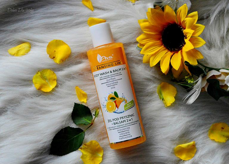 Ava Cleansing Line - Żel pod prysznic + balsam 2 w 1 z Olejkiem Pomarańczowym