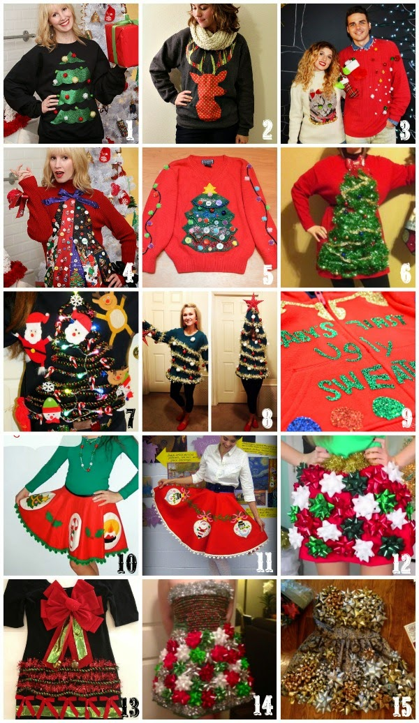 Tacky Christmas Outfits.Holiday Diys 15 Ugly Christmas Clothing Projects