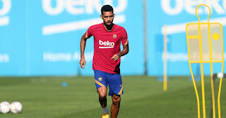 Barcelona new signing Matheus Fernandes finally joins rest of squad