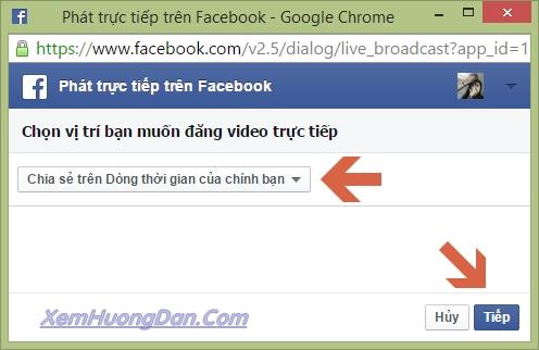 Cach live stream facebook bang may tinh