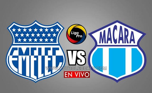 Emelec y Macara se enfrentan en vivo a partir de las 15h30 horario de nuestro país, prosiguiendo la fecha tres del campeonato ecuatoriano, siendo emitido por GolTV Ecuador (medio oficial) a jugarse en el Estadio George Capwell. Con arbitraje principal de Luis Quiroz.