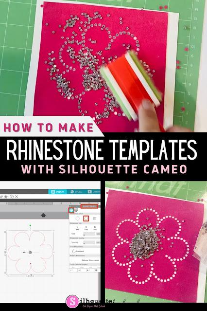 silhouette 101, silhouette america blog, rhinestones, silhouette cameo rhinestones, beginner cameo tutorial