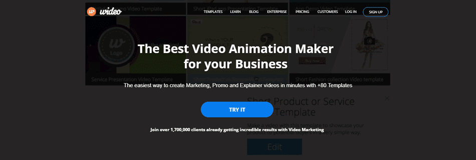 Wideo offers one of the best marketing video templates
