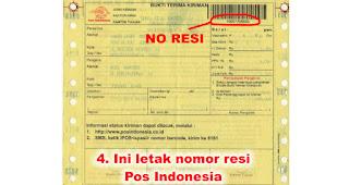 Ini letak nomor resi Pos Indonesia