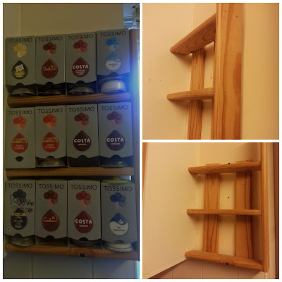 Tassimo Pod Holder made from bed slats