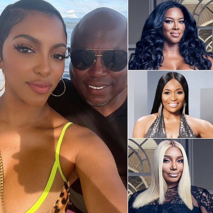 Kenya Moore, Marlo Hampton And NeNe Leakes React To Porsha Williams' Engagement To Her 'RHOA' Co-Star Falynn Guobadia's Estranged Husband Simon Guobadia!