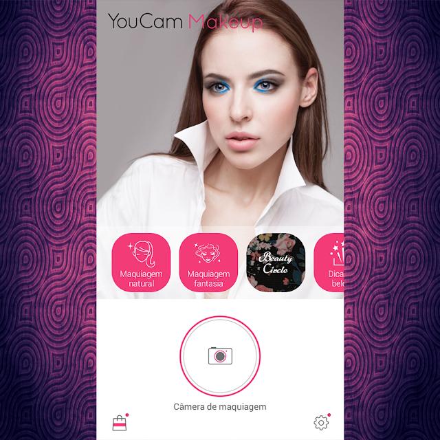 Um aplicativo de maquiagem e beleza