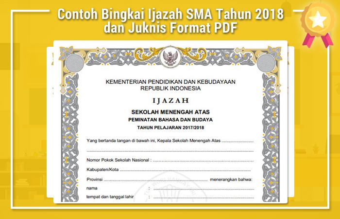 Contoh Bingkai Ijazah SMA Tahun 2018 dan Juknis Format PDF