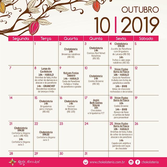 Aulas de Confeitaria Criativa - Outubro 2019