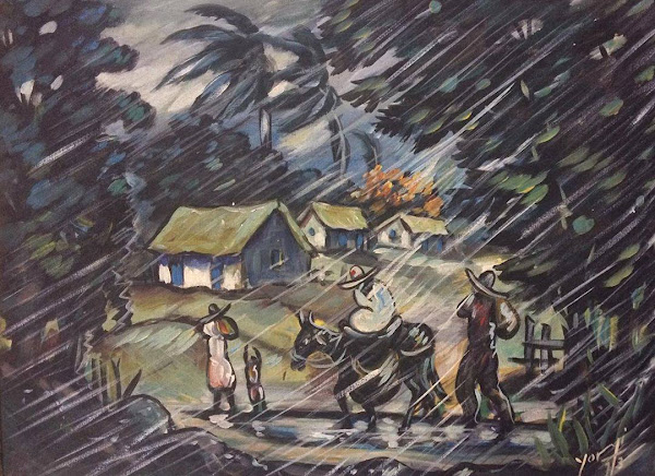 Familia en la lluvia, 1973