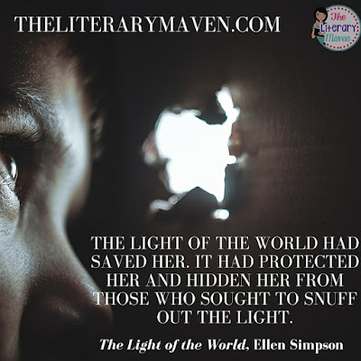 "The LIght of the World by Ellen Simpson is a mix of The DaVinci Code meets The Golden Compass with a struggle between good and evil, the protector of ""the light of the world"" versus its seekers, possible conspiracy, and secrets that can't be revealed. Read on for more of my review and ideas for classroom application."